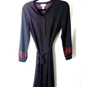 EUC Loft Outlet Long-Sleeve Lightweight Dress SM